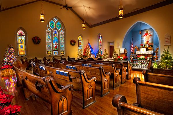 Amish Church Interior
