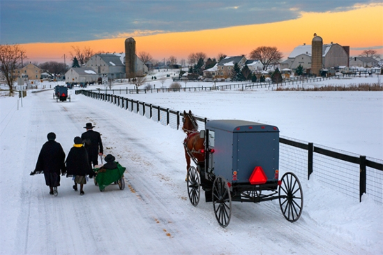amish-on-snowy-road