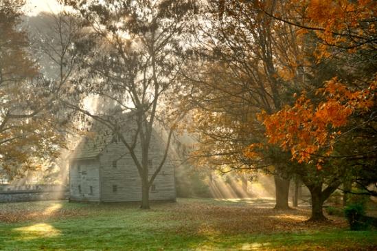 cloister-fog-rays