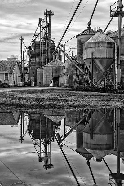 reflecting-silos