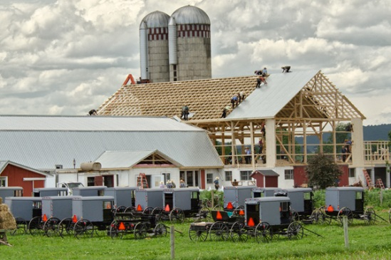 amish-barn-raising