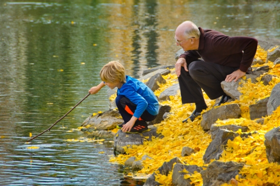 boy-and-grandpa-by-lake